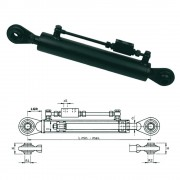 Hydraulic top-links with safety valve