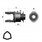 Pto shaft components and spare parts