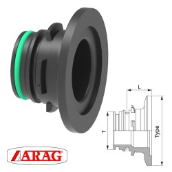 FLANGED MALE CONNECTOR...