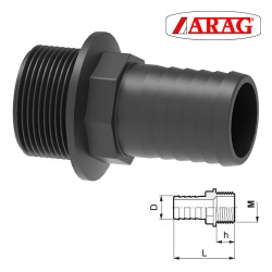 STRAIGHT HOSE FITTING WITH...