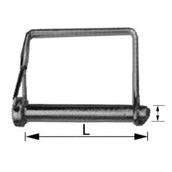 PIN WITH SQUARE ARC
