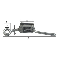 "ADJUSTABLE CLAMP ""FRANCE"" TYPE"
