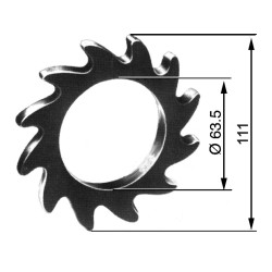 TOOTHED WHEEL, HEAVY Ø 63.5