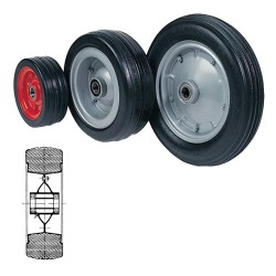 SOLID RUBBER WHEELS WITH...