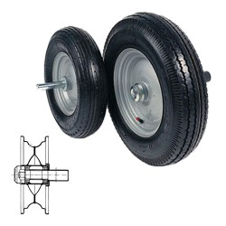 TYRED WHEELS WITH BEARINGS...