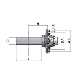 AXLE SHAFTS WITHOUT BRAKE